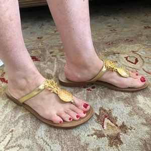 Lily Pulitzer x Target Gold Pineapple Sandals!